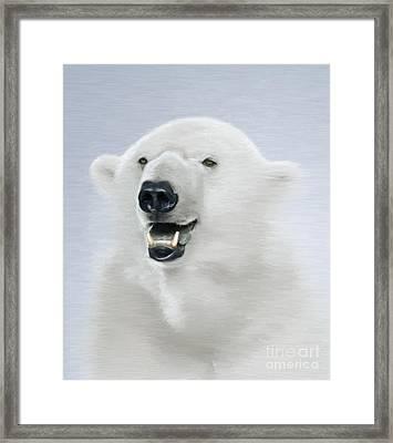 White Bear Framed Print by Aleksey Tugolukov