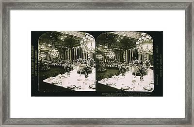 White House State Dinner Framed Print
