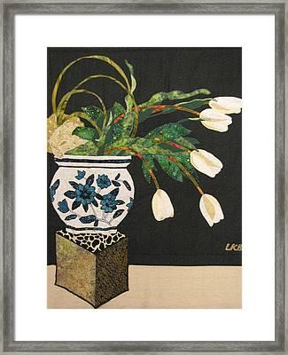 White Tulips Framed Print by Lynda K Boardman