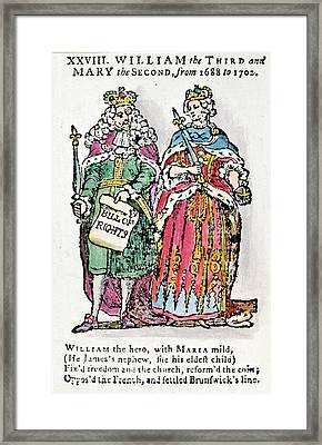 William IIi & Queen Mary Framed Print