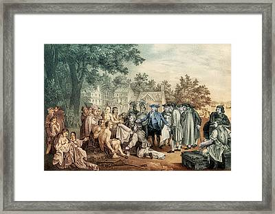 William Penns Treaty With The Indians Framed Print by Science Source
