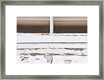 Window Frame Framed Print by Tom Gowanlock
