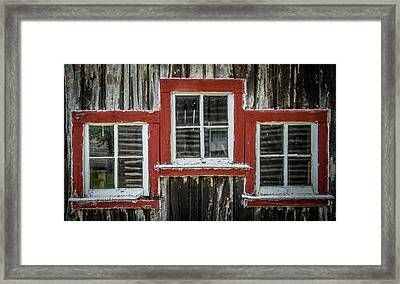 3 Windows Framed Print