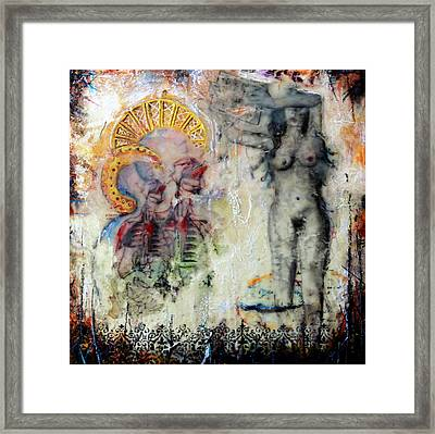 With The Tongues Of Angels Framed Print