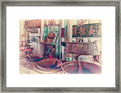 Framed Print featuring the photograph 3-wok Kitchen by Jim Thompson