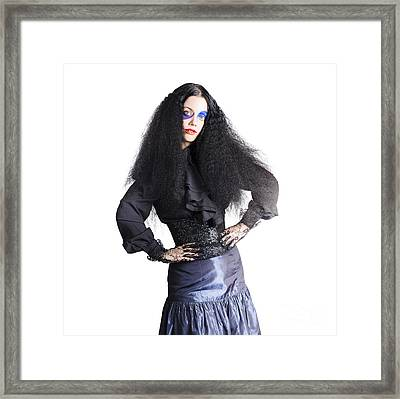 Woman Dressed As Jester Framed Print by Jorgo Photography - Wall Art Gallery