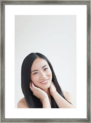 Woman Smiling Framed Print
