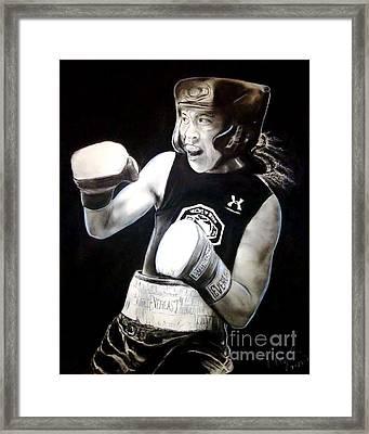 Woman's Boxing Champion Filipino American Ana Julaton Framed Print