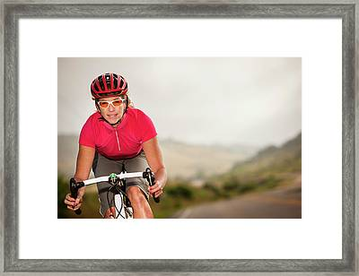 Women Cyclists Framed Print