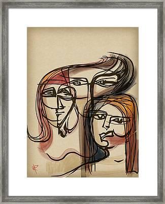 3 Women Framed Print by Russell Pierce