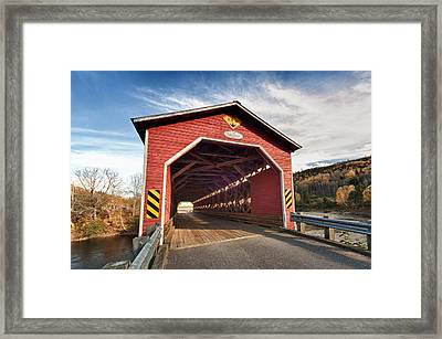 Wooden Covered Bridge  Framed Print by Ulrich Schade