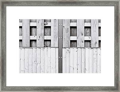 Wooden Fence Framed Print by Tom Gowanlock