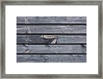 Wooden Panels Framed Print by Tom Gowanlock