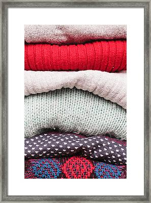 Wool Jumpers  Framed Print by Tom Gowanlock