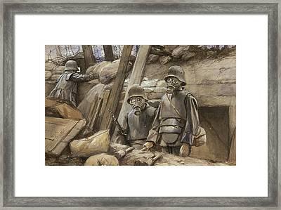 World War I Gas Masks Framed Print