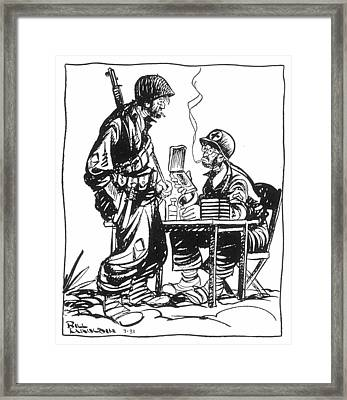 World War II: Cartoon Framed Print by Granger