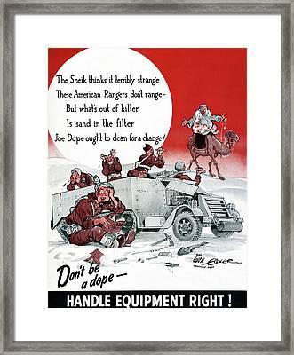 World War II Poster, 1942 Framed Print