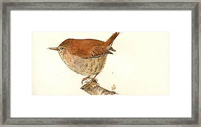 Wren Bird Framed Print by Juan  Bosco