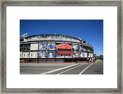 Wrigley Field - Chicago Cubs Framed Print by Frank Romeo