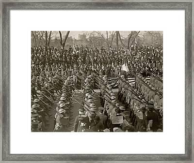 Wwi Parade, 1919 Framed Print