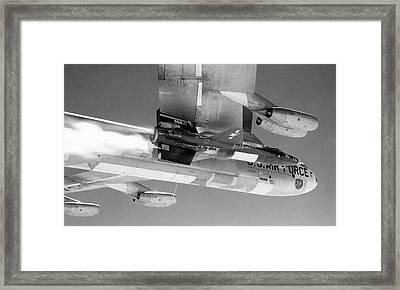 X-15 Aircraft On A Boeing B-52 Framed Print