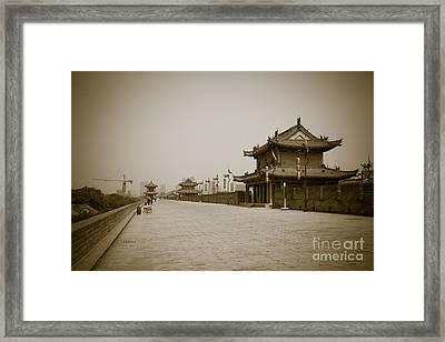 Xi'an City Wall China Framed Print