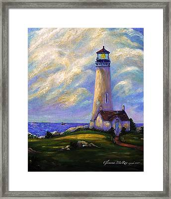 Yaquina Head Lighthouse Oregon Framed Print