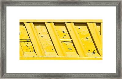 Yellow Metal Framed Print