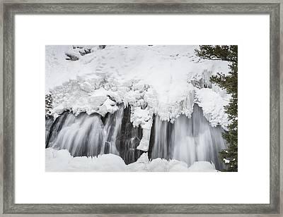 Yellowstone Falls Framed Print by David Yack