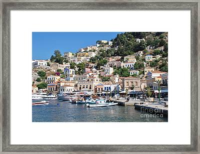 Yialos Harbour Symi Framed Print