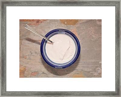 Yogurt Framed Print by Tom Gowanlock