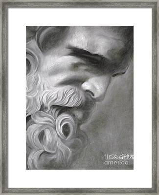 Zeus Framed Print by Adrian Pickett