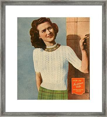 1950s Uk Illustrations Magazine Plate Framed Print