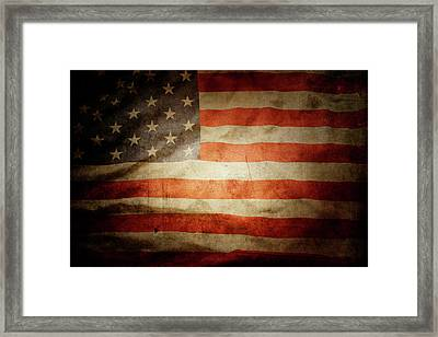 American Flag  Framed Print by Les Cunliffe