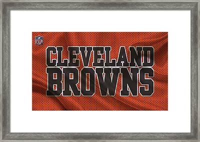 Cleveland Browns Framed Print by Joe Hamilton