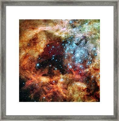 30 Doradus Star Clusters Framed Print by Nasa/esa/stsci/e. Sabbi