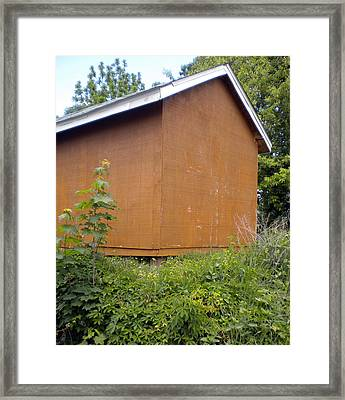 Shady Barn Framed Print by Karla Ricker