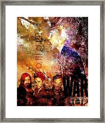 30 Seconds To Mars Painting Print Framed Print
