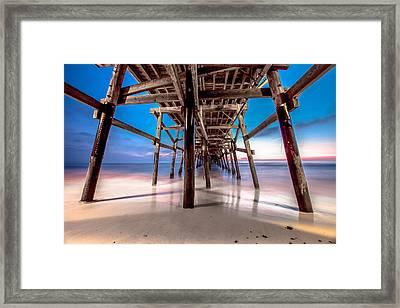 30 Seconds Under San Clemente Pier Framed Print