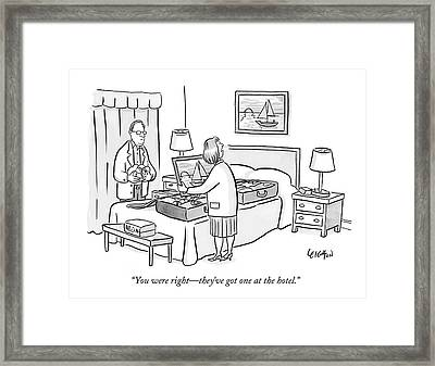 You Were Right - They've Got One At The Hotel Framed Print by Robert Leighton