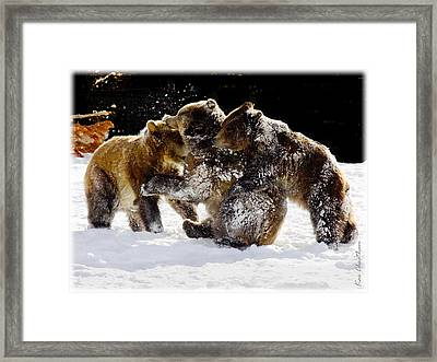 300 Pound Playmates Framed Print by Kae Cheatham