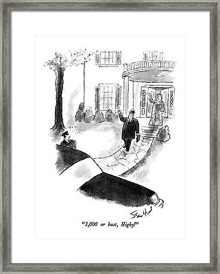 3,000 Or Bust, Higby! Framed Print