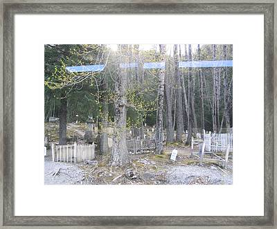 Framed Print featuring the photograph 300yr Cemetery by Brian Williamson
