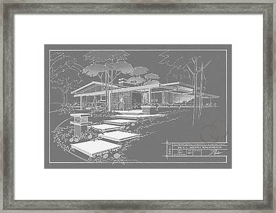 301 Cypress Drive - Charcoal Framed Print