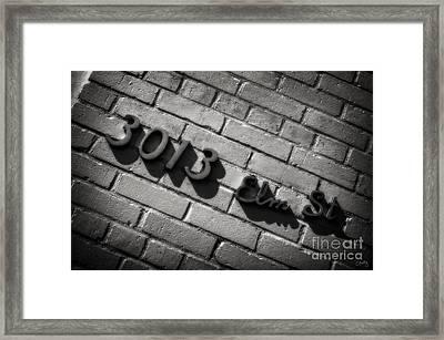 3013 Elm St Framed Print