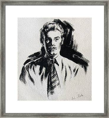 Secret Agent Study 1 Framed Print by Robert Poole