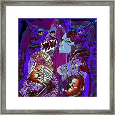 306 - The Alien  Connection Framed Print
