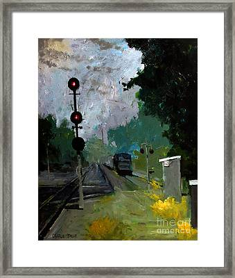 308 Cloudy With A Chance Of Rain Framed Print by Charlie Spear