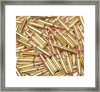 308 Winchester Cartridges. Framed Print