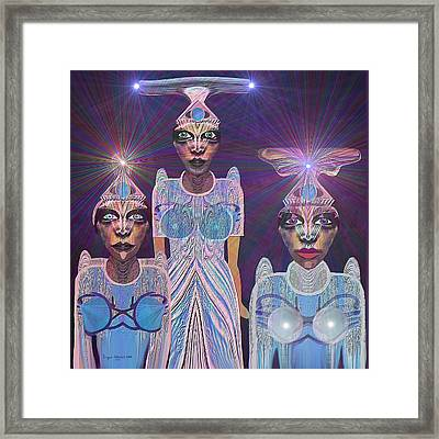 309 - Beautiful  Models  From Outer Space   Running For Miss Universe Framed Print